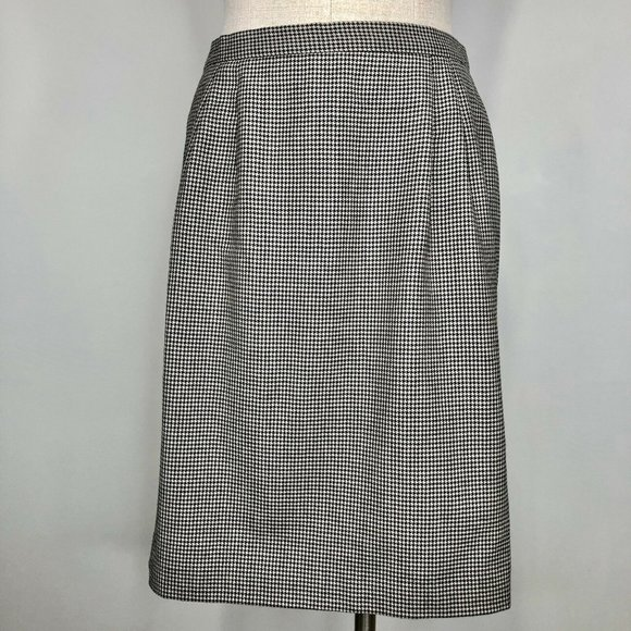 Talbots Dresses & Skirts - Talbots Womens Houndstooth Pencil Skirt Wool 12